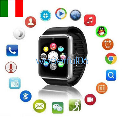 Smartwatch Android Ios Sim Tf Bluetooth Orologio Micro Sd Gt08 Nero Telefono