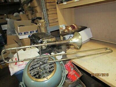 Vintage Concerto Concert Trombone Olds 3 Mouthpeice Auction Find Unmarked