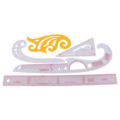 5pcs Sewing French Curve Ruler Measure Dressmaking Tailor Drawing Template