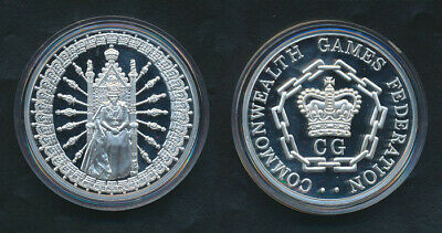 Australia: 1992 The Queen / Commonwealth Games Fed 50.44g Large Silver Medal