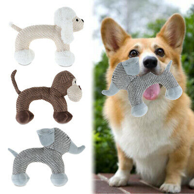 Puppy Chew Toys Dogs Bite Interactive Stuffed Squeaky Toy Sound Squeaker Pet new