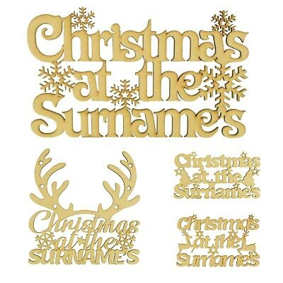 Personalised Christmas At The Sign 25 DESIGNS TO CHOOSE FROM Family Gift Xmas