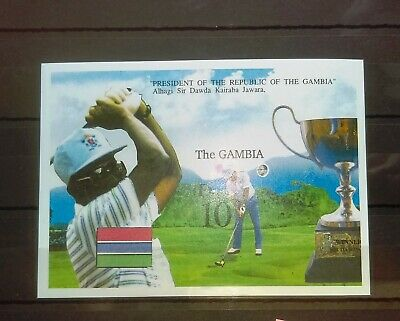 1992 Mini Sheet From Gambia (Golf). Unused, Sg Cat Value £5.50