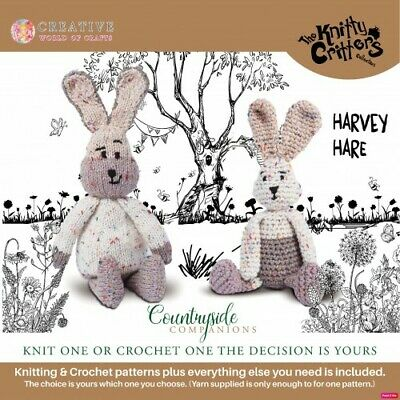 Creative World of Craft - Knitty Critters - Countryside Companions - Harvey Hare
