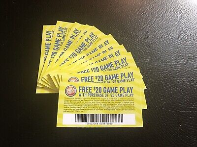 12 Dave And Busters Get $20 Gameplay With Identical Purchase! Expires 3/31/2020!