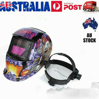 Pro Solar Powered Auto Darkening Welding Helmet Arc Mask Shield AU Stock