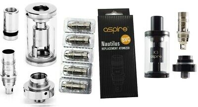 Genuine Aspire K3 Atomizer Replacement Tank  Nautilus BVC Coils 1.6, 1.8ohm Coil
