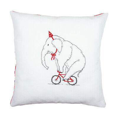 VERVACO|Embroidery Kit: Cushion: Elephant On Bike|PN-0162239