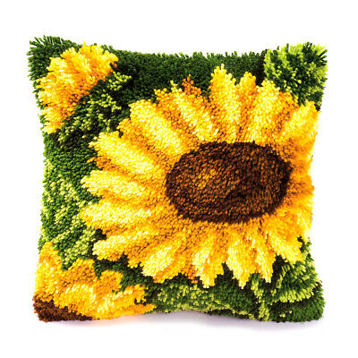 VERVACO|Latch Hook Kit: Cushion: Sunflowers|PN-0014176