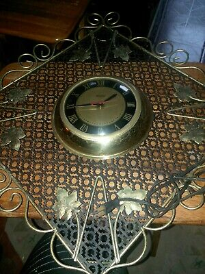 Vintage United Wall Clock Ornate Electric