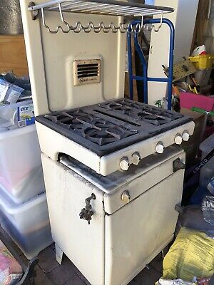 Vintage 1950's 'New World - Seventy Five' Stove Top & Gas Oven