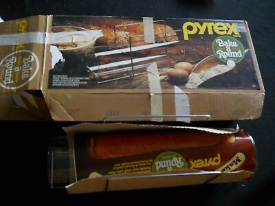Pyrex Vtg Bake A Round Bread Clear Glass Baking Tube Corning 990 NIB