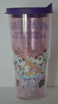 Disney Parks 2019 Epcot Food and Wine Festival Tervis Tumbler Minnie Mouse NEW