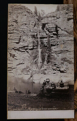 Cabinet Card, Jackson-Chipeta Falls, Black Canon with Steam Engine..