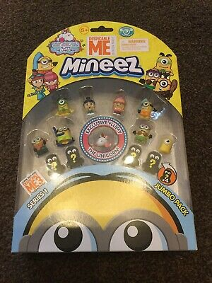 Despicable Me Series 1 Mineez 12 Pack + Exclusive Fluffy Unicorn. New & Sealed.