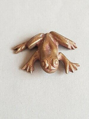Messing Bronze Figur Frosch