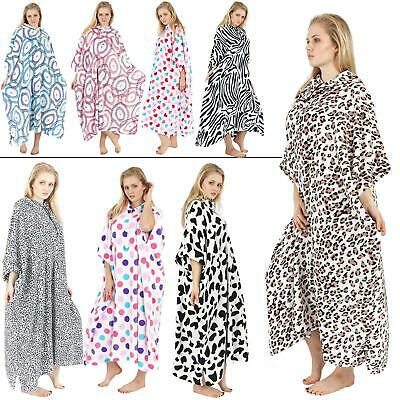 Womens Luxury Poncho Ladies Super Soft Fleece Loungewear Hooded Kaftan Blanket