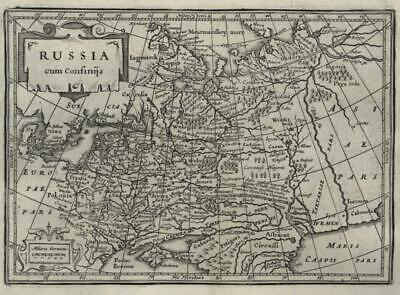 Western Russia in Europe to Tartary 1661 Jansson miniature map