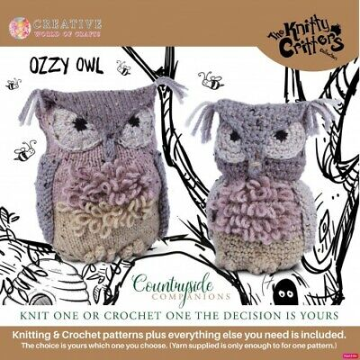 Creative World of Craft - Knitty Critters - Countryside Companions - Ozzy Owl -