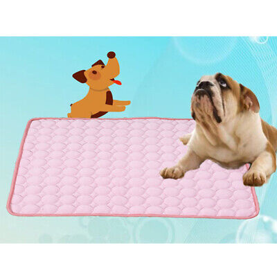 Cooling Mat Pet Dog Chilly Non-Toxic Summer Cool Bed Pad Cushion Indoor