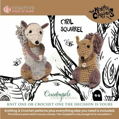 Creative World of Craft - Knitty Critters - Countryside Companions - Cyril Squir