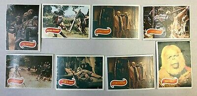 Rare Vintage 1960'S Topps Planet Of The Apes Card Collection Of 8 Green Backs