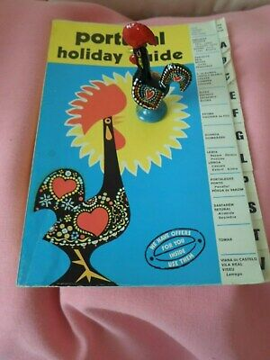 Lucky Ceramic Rooster Figurine & Vintage Portugal Holiday Guide
