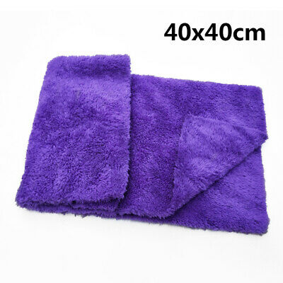 40*40cm Car Home Wash Cleaning Soft High Water Absorption Coral Velvet Towel New