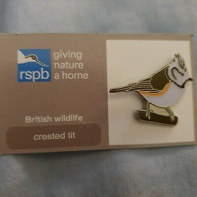 RSPB Crested Tit GNAH Pin Badge