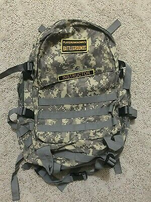 Pubg Level 3 Backpack with 2 velcro on patches! Instructor and Playerunknown!