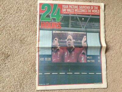 Wales On Sunday Rugby World Cup 1999 Souvenir Supplément.
