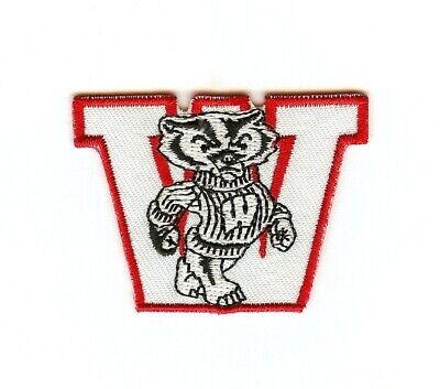 NCAA Wisconsin Badgers Iron-On Patch.MINT.Fast same day Shipping.  BIG TEN