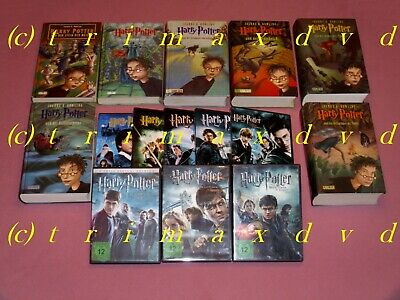 Harry Potter Band 1-7 & Harry Potter DVD's Teil 1-7 _ Gebundene Ausgaben