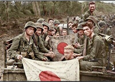US Marines In The Pacific Colorized 1944  WW2  WWII Print 5 x 7