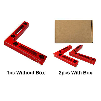 2pcs 4inch 90 Deg L Shape Square Right Angle Clamps Corner Clamping Ruler