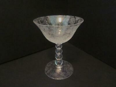 Imperial Candlewick Glass Tall Sherbet / Champagne, All Over Wild Rose Etching