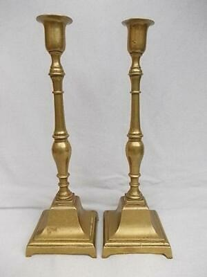 345 / Beautiful Pair Of Mid 19Th Century Ecclesiastical Brass Candlesticks