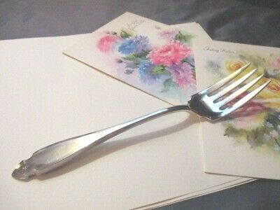 1920 Cardinal Heirloom Silver Plate Cheese Hot Cold Meat Fork