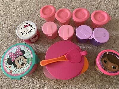 Baby Girls Weaning/ Food Storage Pot Bundle