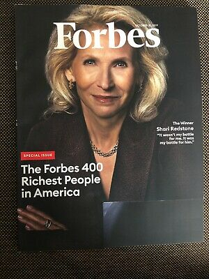 Forbes Magazine October 31, 2019 Special Issue 400 Richest People in America