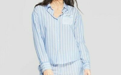 Stars Above Womens Long Sleeve Simply Cool Button Up Pajama Shirt  XSmall (5312)
