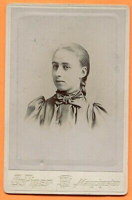 Manchester, NH, Portrait of a Young Woman, by Piper, circa 1890s Backstamp