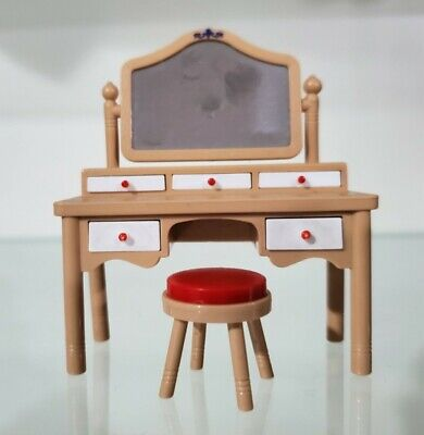 tomy smaller homes and garden dollhouse accessories vanity and stool