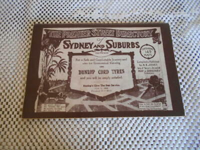 Premier Street Directory of Sydney and Suburbs 1925 (1975 reprint)