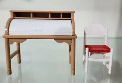 Tomy smaller homes and garden dollhouse accessories roll top desk and chair