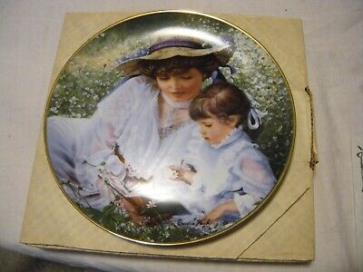 "Sandra Kuck Plate ""Once Upon A Time"" Mothers Day 1985 in Original Box w/COA"