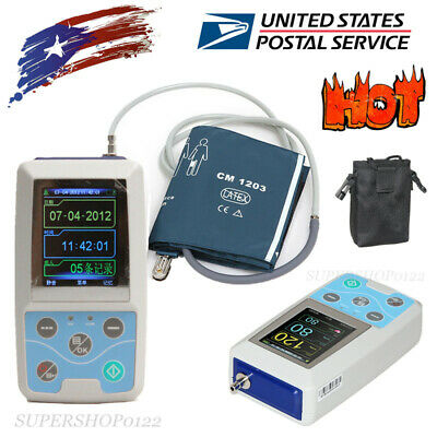 USA portable NIBP Ambulatory Blood Pressure Monitor 24 hours recorder software