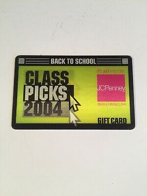 JCPenney Back To School Lenticular 2004 Collectible NO VALUE Gift Card
