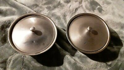 Legion Utensils Covered Bowl Lot of 2 stainless steel Bowls candy dish 1951