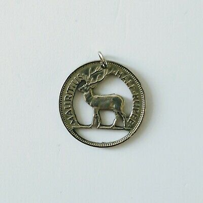 Game Of Thrones inspired Handcrafted Stag Pendant.Made frm Mauritius Rupee coin